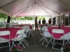 40 Frame Tent on deck